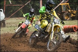 Motocross Rider With Gloves